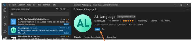 install al language