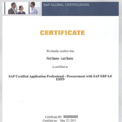 Sap Certification Prerequisites Erproof
