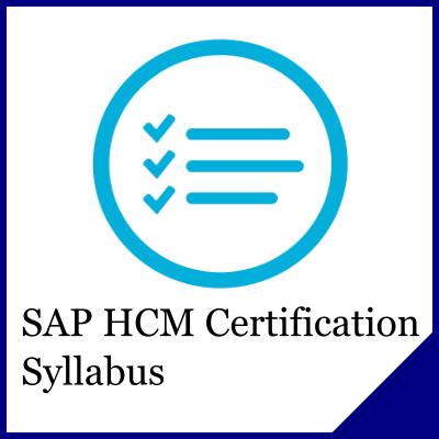 Sap Hcm Certification Syllabus Sap Training And