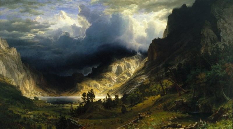 A New Romanticism Erraticus Albert Bierstadt Storm Rocky Mountains