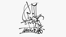 Bailas e faisme libre, caligrama de Uxío Novoneyra