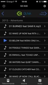 Pioneer ControlApp - playlist