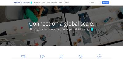 Facebook Developer Portal for registration