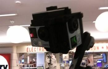 Un système utilisé pour la captation de la vidéo à 360°, composé de 4 Go Pro