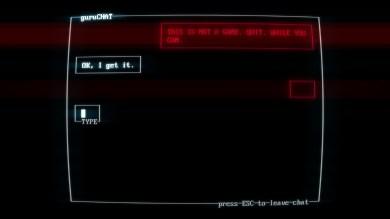 Taper ce que vous voulez sur votre clavier, SUPERHOT n'écrira de toute façon que ce qu'il voudra.