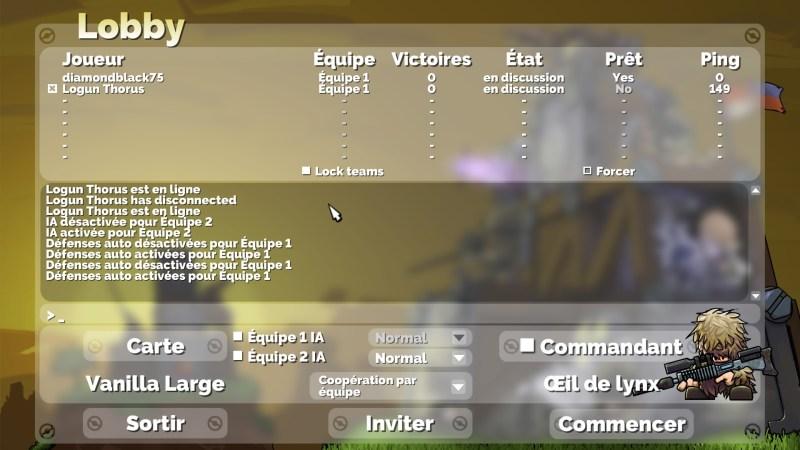 Interface Multijoueur