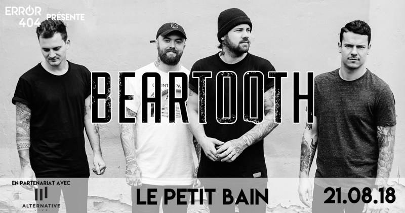 Error404 partenaire officiel de Beartooth