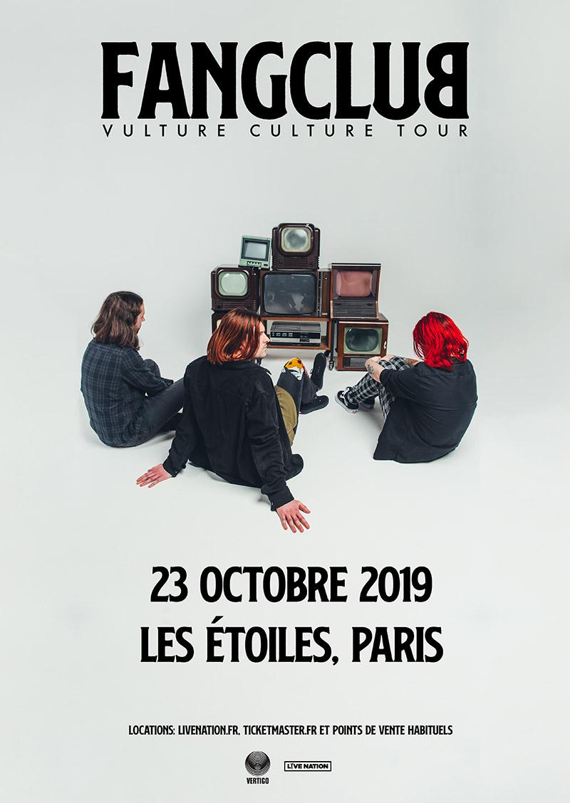 Error404 est partenaire de Live Nation sur le concert de FangClub à Paris
