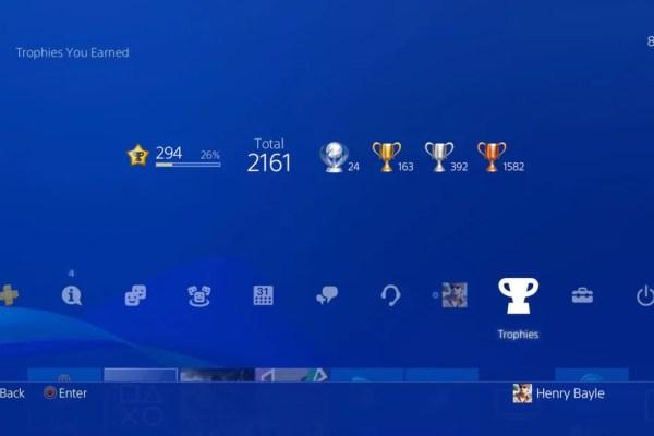 PS5 trophyt