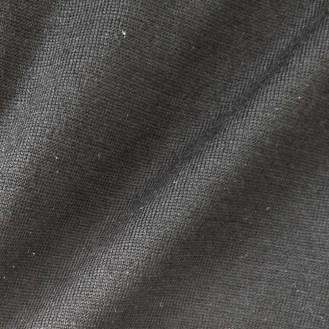 schwarzer Jersey aus Merinowolle
