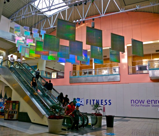 standing under the 52 shimmering prism panels we experience a thrilling uplift of emotion