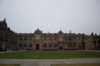 St. Salvator's Quad, where my Spanish and Divinity classes are held