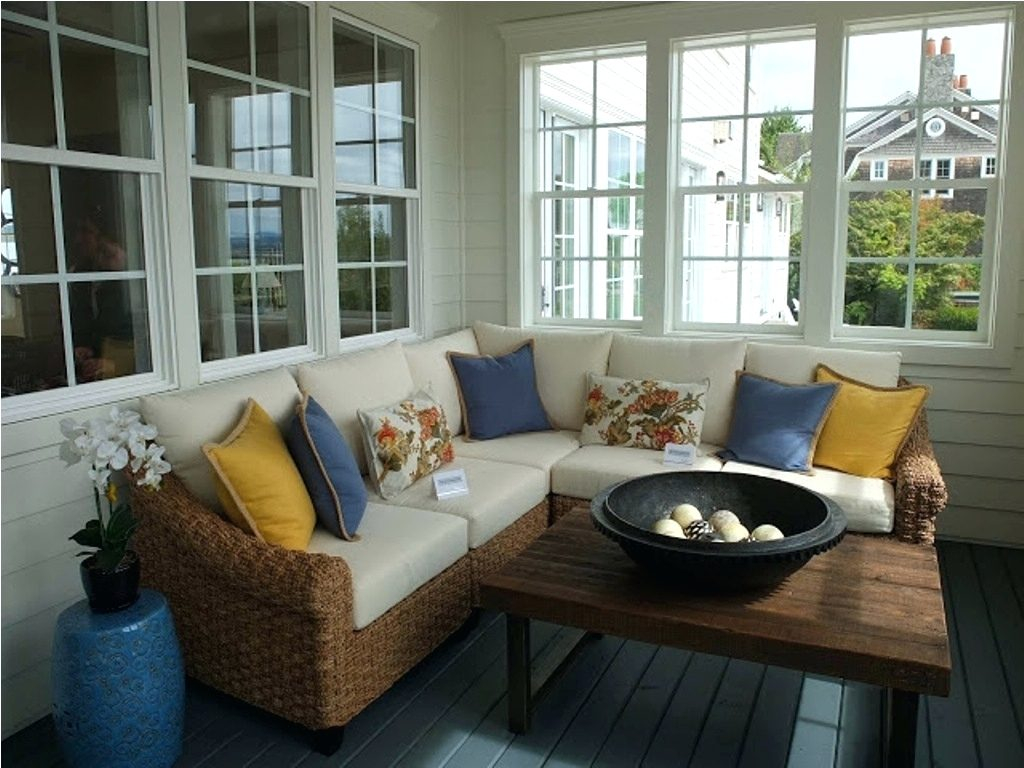 enclosed front porch furniture ideas