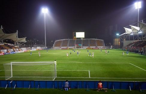 Like folketomt som Molde Stadion. Hvem hadde trodd at det ble spilt Asiatisk klubbmesterskap her.