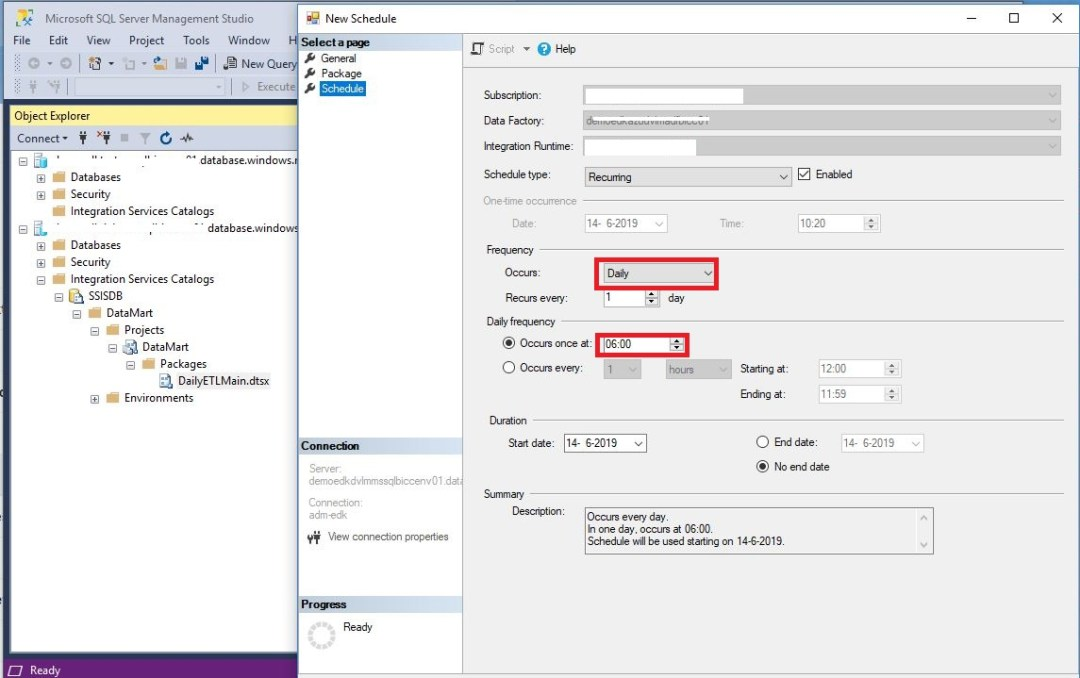 Schedule SSIS Packages