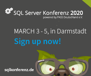 Speaking at SQL Server Konferenz 2020