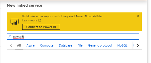Create Synapse Studio PowerBI Connection