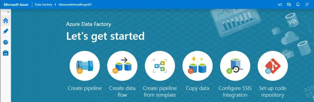 Azure Data Factory let's get started