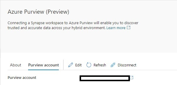 Azure Purview Connected