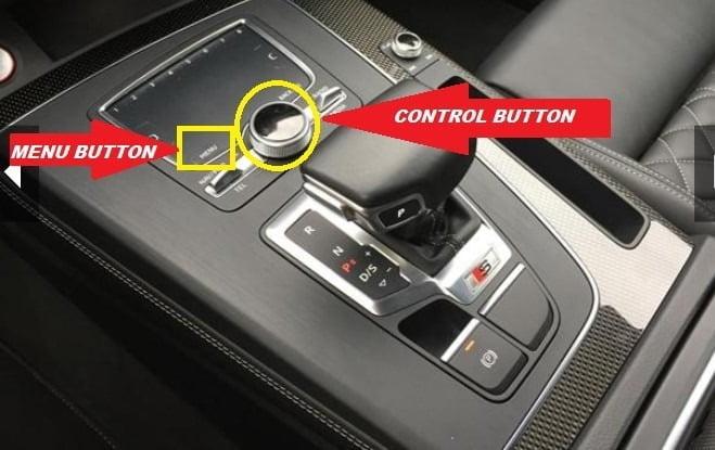 Audi Q5 2015-2020 MEnu button