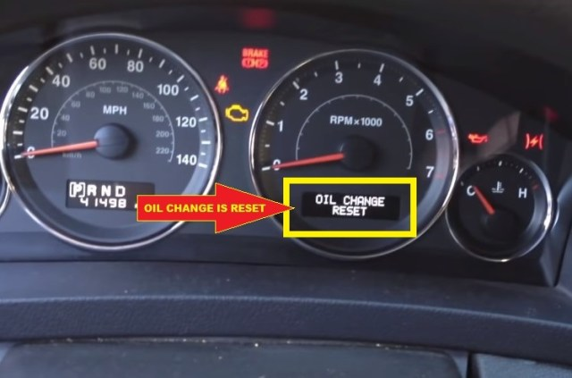Jeep Commander Oil change reset