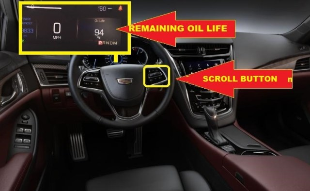 Cadillac CTS Oil Service Light Reset -remaining oil life