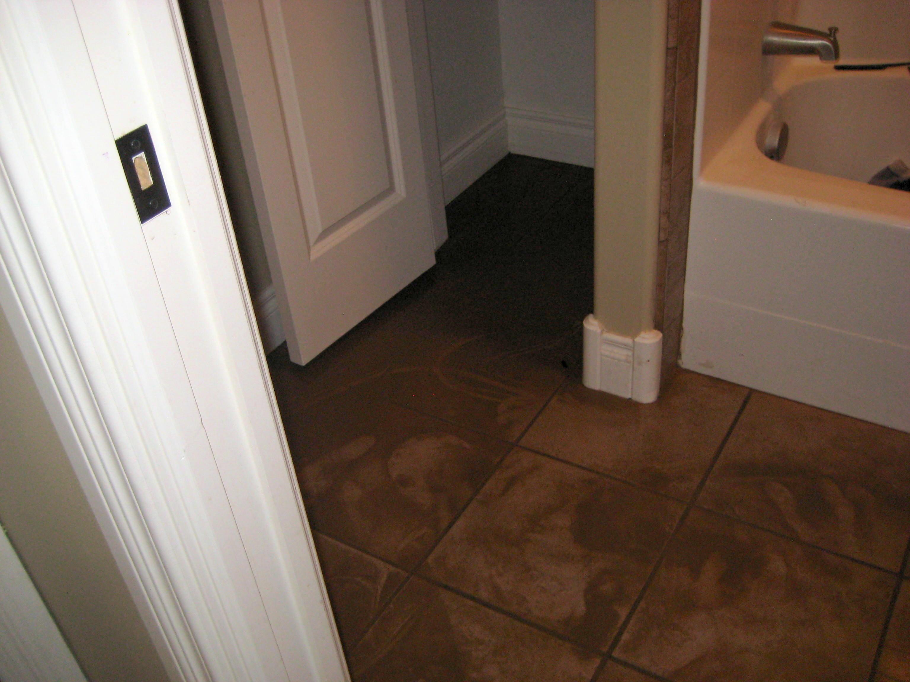 repairing bathroom water damage in las