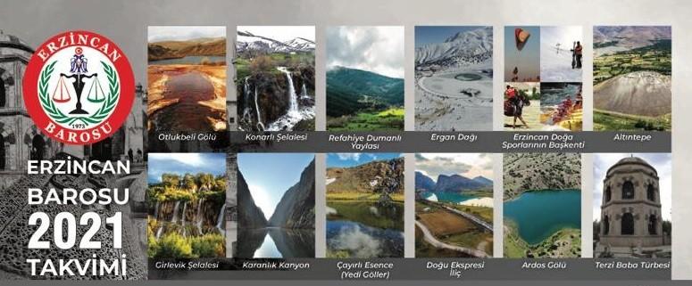 Erzincan'ın güzellikleri baro takviminde yer aldı