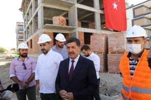Erzincan'da kentsel dönüşüm projesi 1. etapta yer alan konutların son betonu dökülüp kura tarihleri belli oldu