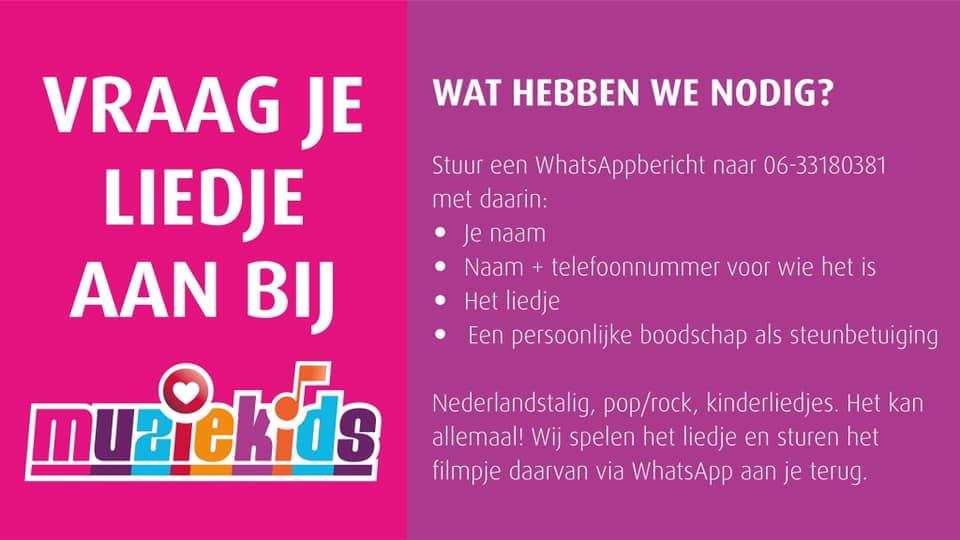 Vraag nu een liedje aan bij Muziekids voor patiëntjes in het ETZ ziekenhuis Tilburg