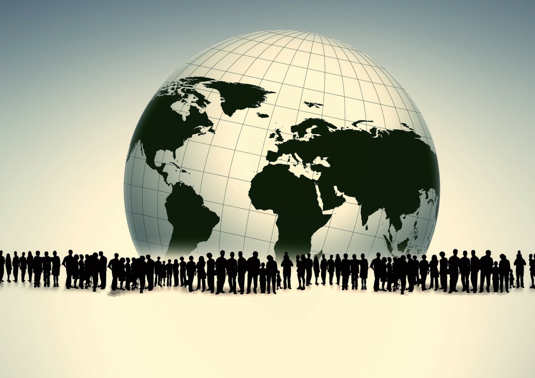 Mensen die een wereldcommunity vormen