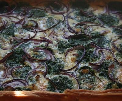 Hartige taart met Gorgonzola en spinazie zelf maken