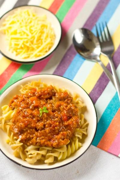 Recept bolognese saus zelf maken