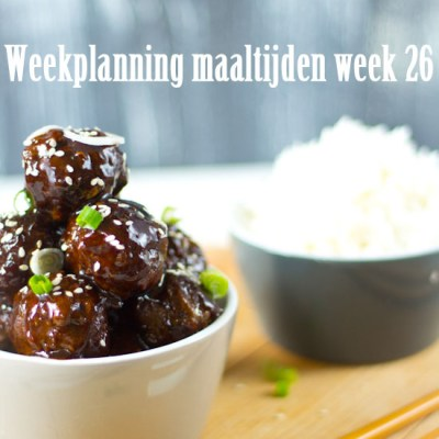 Weekplanning maaltijden week 26