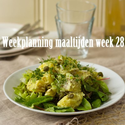 Weekplanning maaltijden week 28