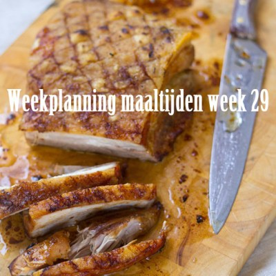 Weekplanning maaltijden week 29