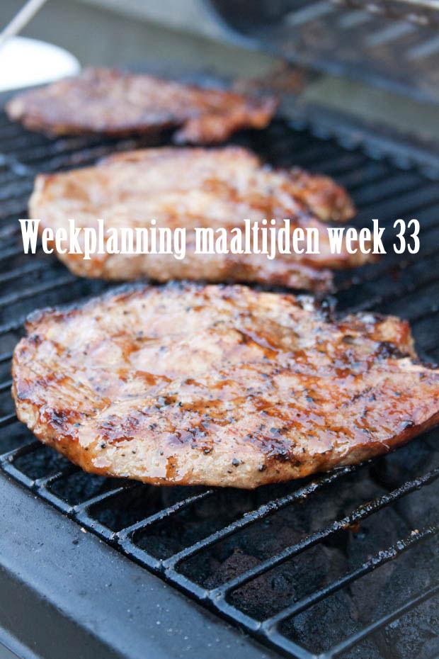 Weekplanning maaltijden week 33