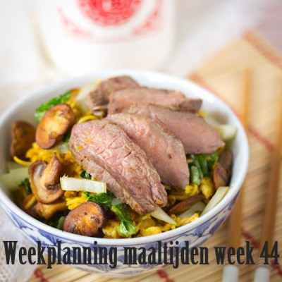 Weekplanning maaltijden week 44