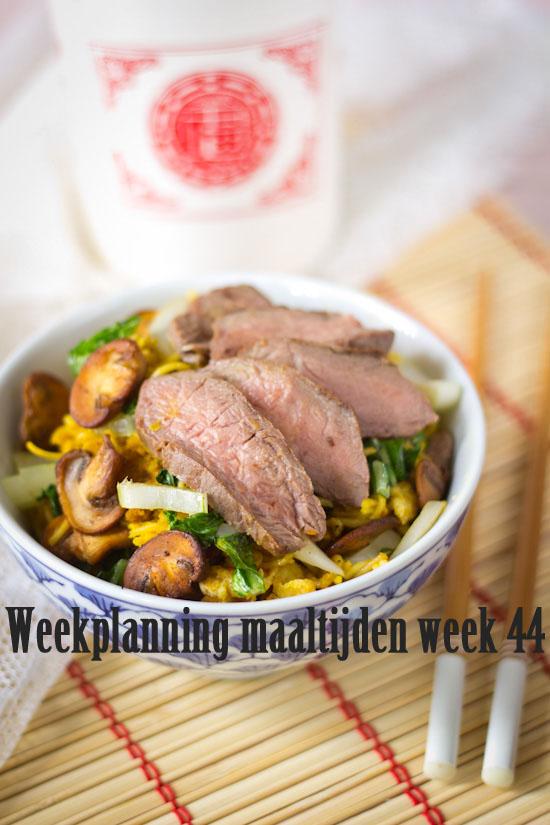 Weekplanning maaltijden week 44