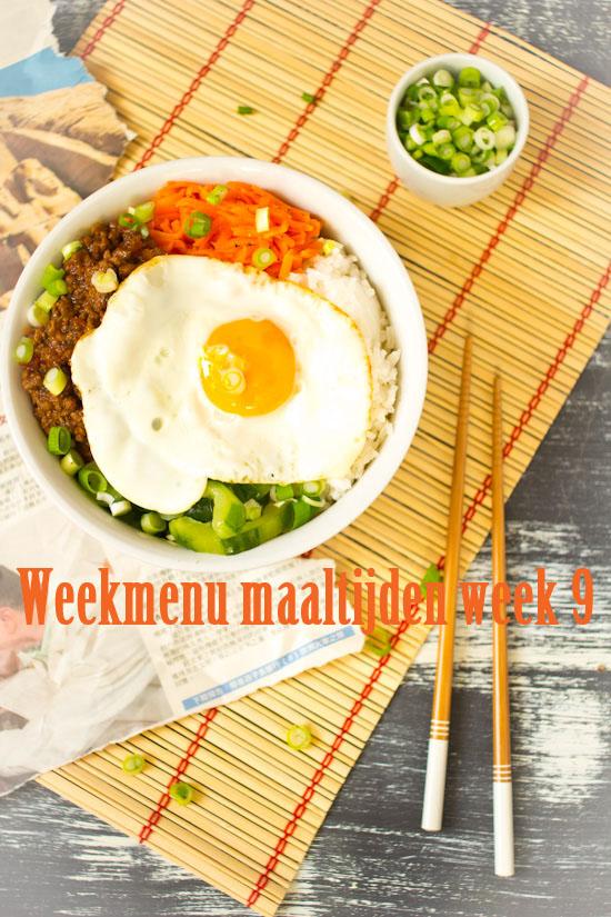 Weekmenu maaltijden week 9