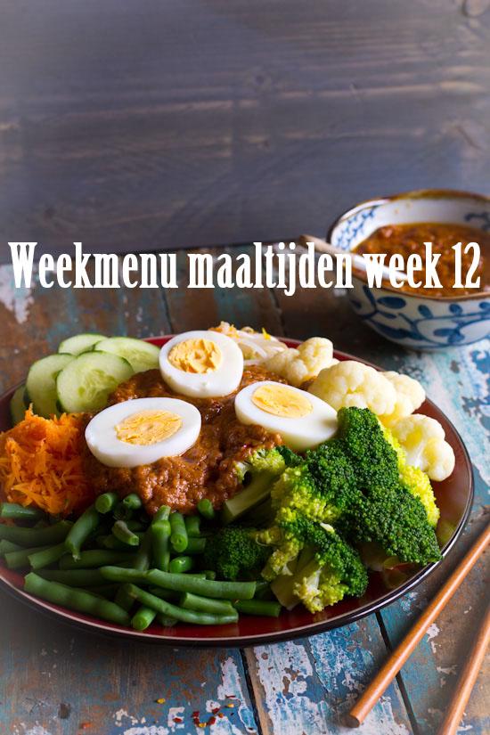 Weekmenu maaltijden week 12