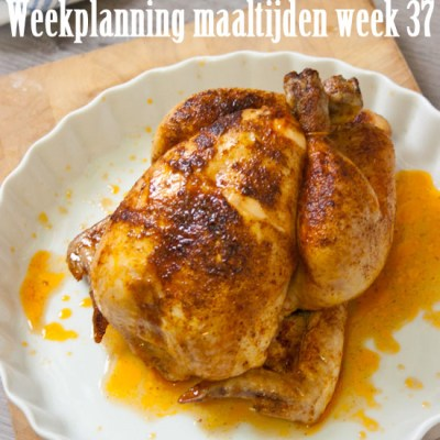 Weekplanning maaltijden week 37