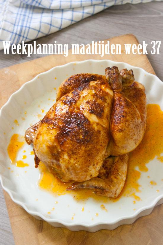 Weekplanning maaltijden week 37