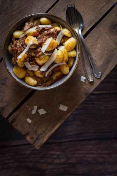Gnocchi met wilde eend ragu recept