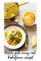 Milde gele curry met kabeljauw recept