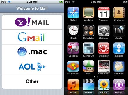 Mail en un iPod touch