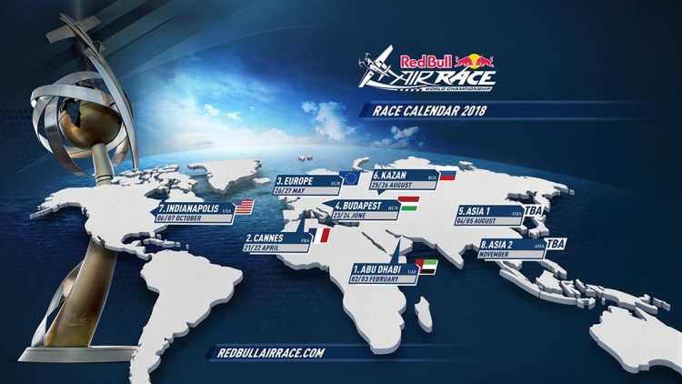 calendario 2018 Red Bull Air Race