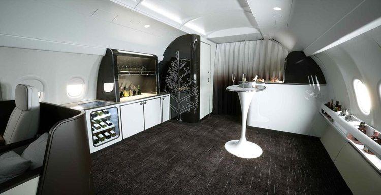 A321LR Four Seasons Social Area