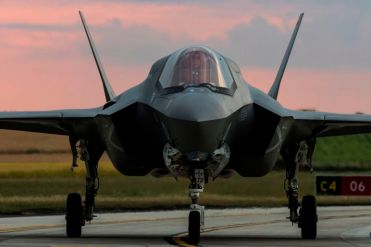 On this day 16th July 2019 six F-35 Jets from 207 Sqn landed a RAF Marham. This image shows: OC 207 (Wing Commander Scott Williams) taxiing into the Pan at the new 617 Sqn. This is his arrival into RAF Marham with the other 5 F-35 aircrafts. Six F-35 Lightning aircrafts of 207 Squadron (Sqn) arrived back to the UK at their home base RAF Marham. The jets left Marine Corps Air Station (MCAS) Beaufort in South Carolina. The trip took 10 hours and the first jet landed at RAF Marham around 1950 local time. 207 Sqn will formally stand up on the 1st August 2019 and the first F-35 pilot course at RAF Marham will commence in early September 2019.