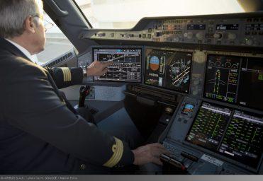 A350 XWB touchscreen cockpit displays